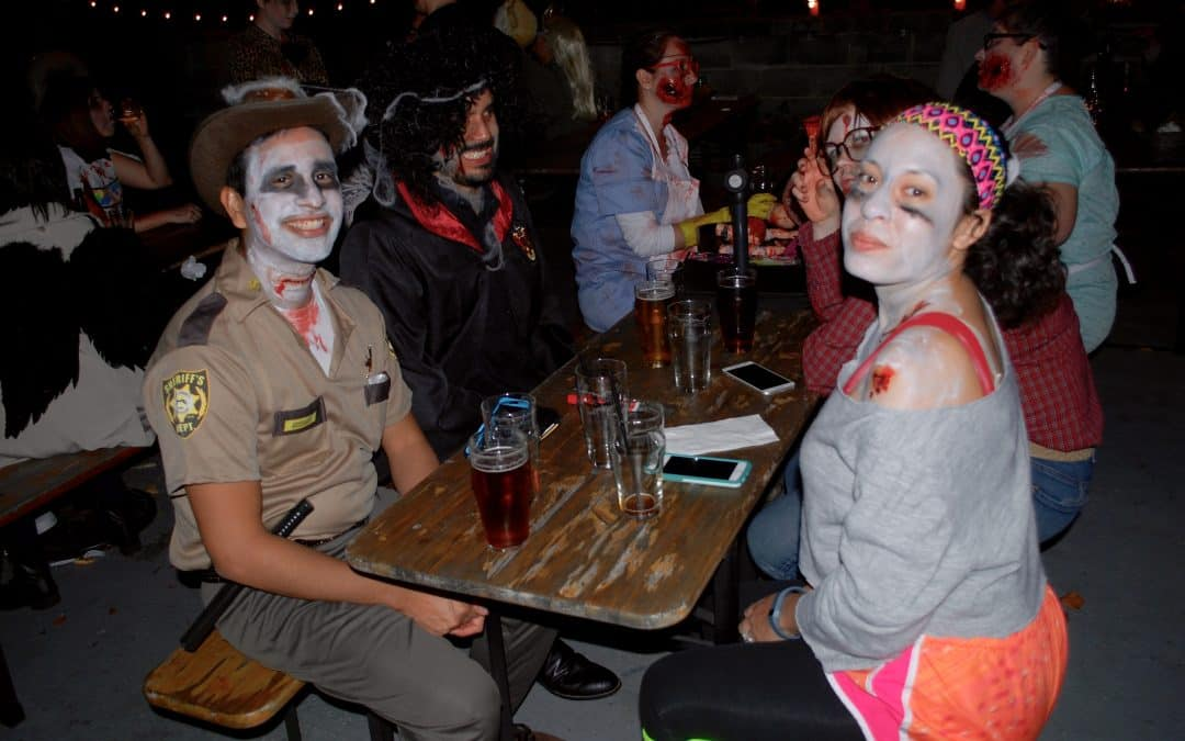 Zombies pregame at Denizen's, Arts Alley