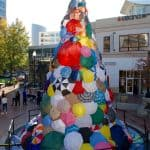 Holiday lighting party featured Positivi-Tree - The annual Re-Imagining the Holiday party Nov. 12 in downtown Silver Spring featured the Positive-Tree, a 35-foot public art installation by artists Karl Unnasch and Jon Taylor.