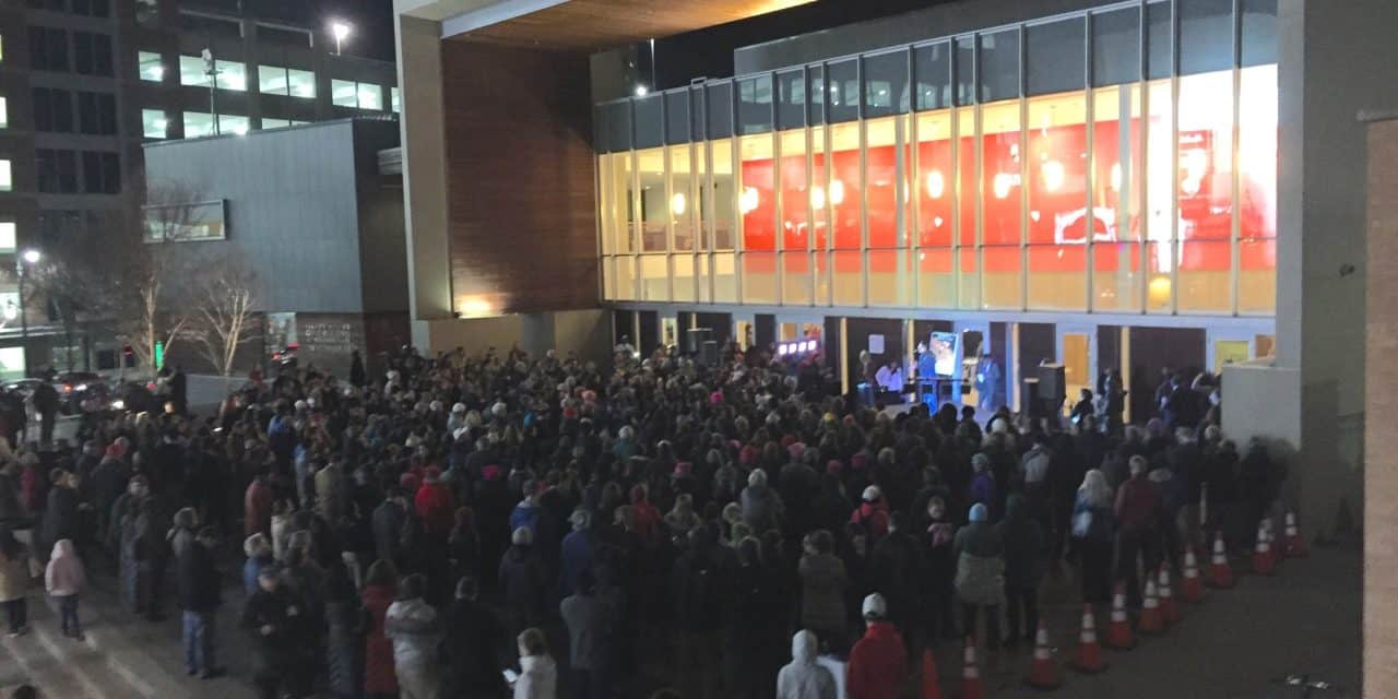 "Hundreds rally in Silver Spring against ""lawless"" president"
