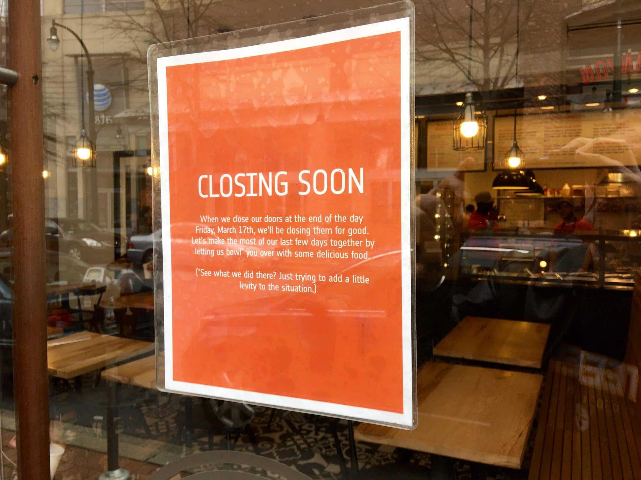 ShopHouse restaurants to close next week