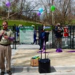 Takoma Park opens its first official dog park - Takoma Park's first official dog park opened to a throng of people and their pets in a ribbon-cutting ceremony held Sunday afternoon.