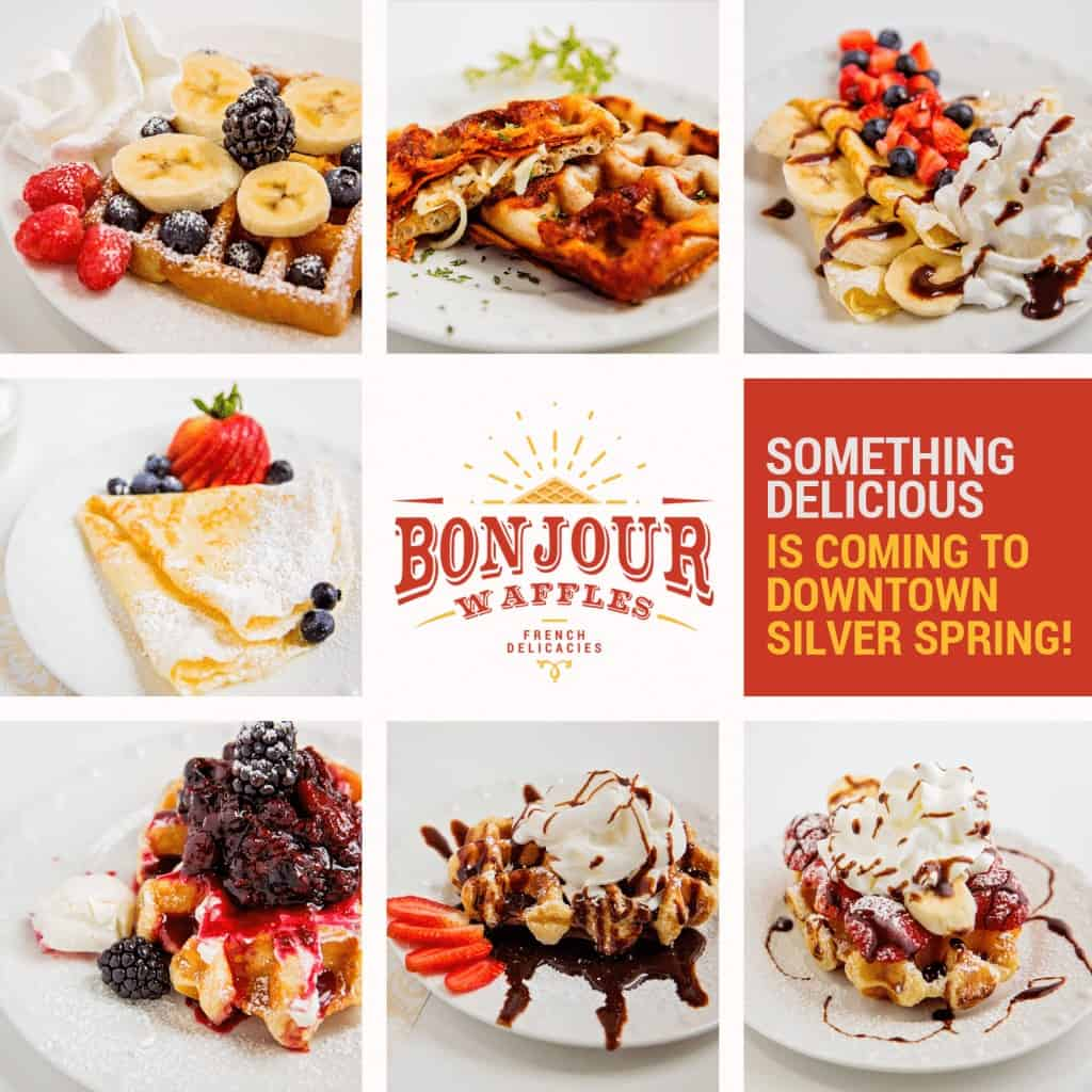 Bonjour Waffles back in business in Downtown Silver Spring