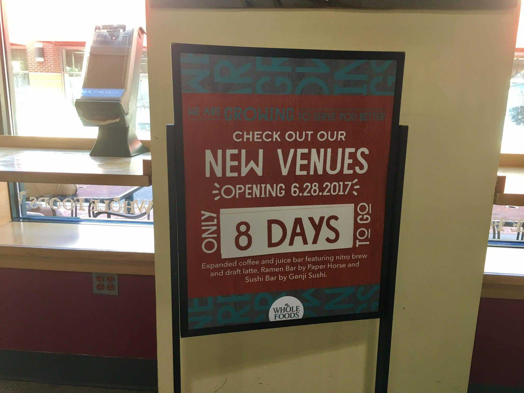 UPDATED: Whole Foods renovations unveiled next week - The results of the extensive renovations of the Whole Foods Market in Silver Spring will be unveiled Wednesday, June 28.
