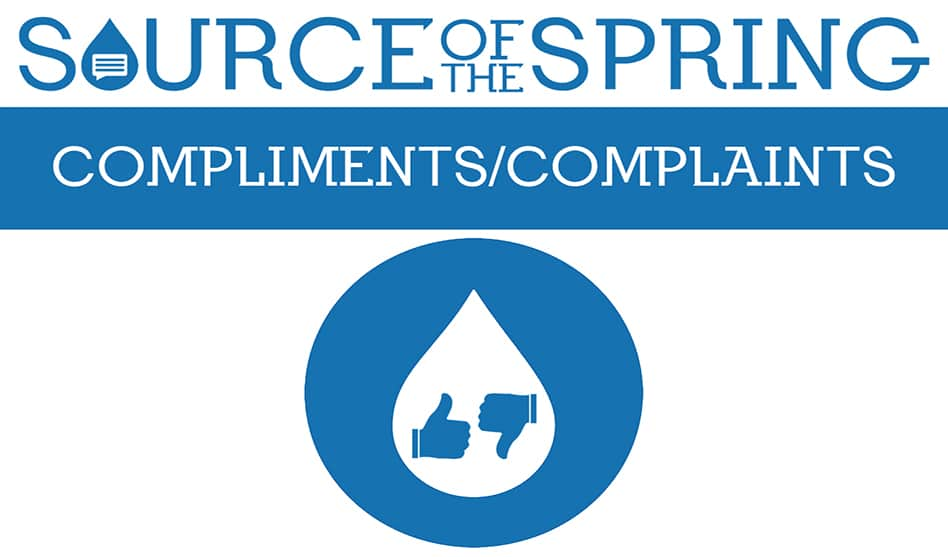 Compliments & Complaints Friday