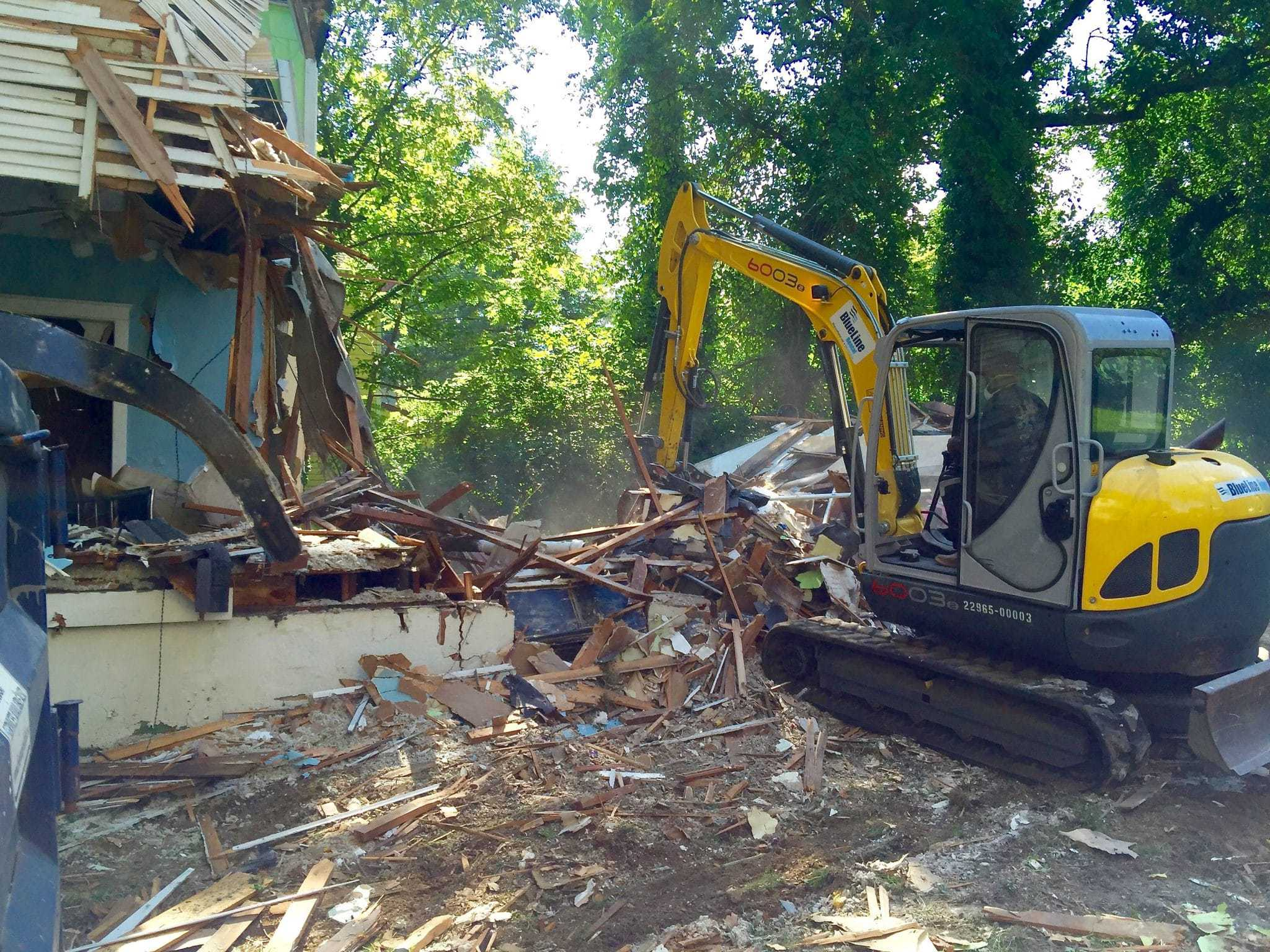 Demolition work begins on Silver Spring Avenue