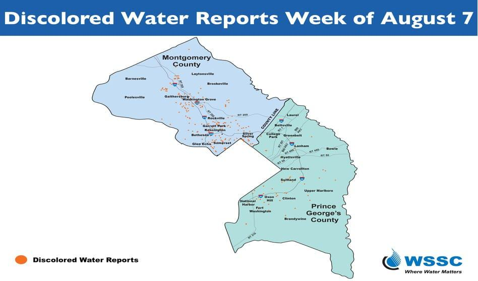 WSSC explains cause of water discoloration