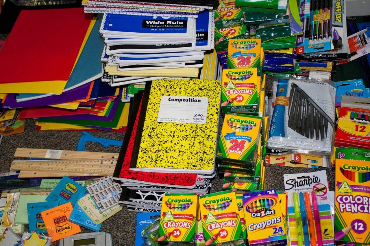 County agencies, other organizations team up to collect school supplies - A number of government agencies, businesses and community organizations have joined together to collect school supplies for county school children and are accepting donations this week.