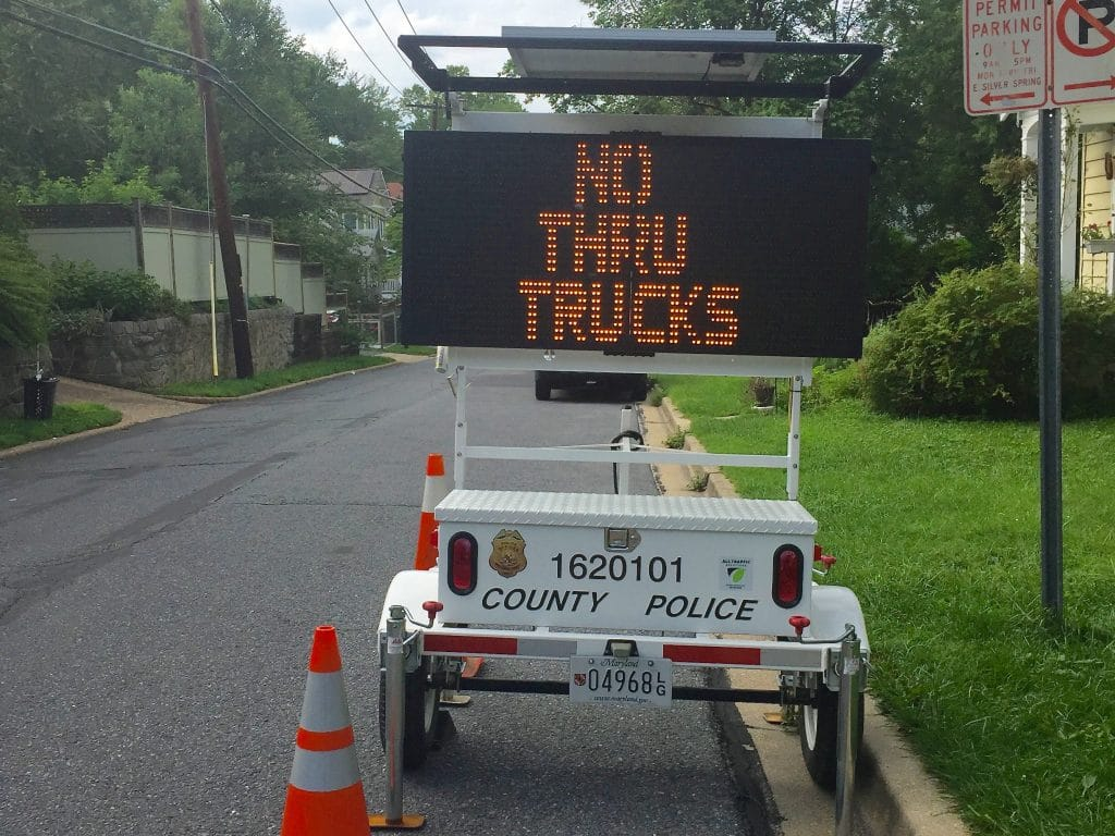 Portable sign can help control neighborhood street traffic