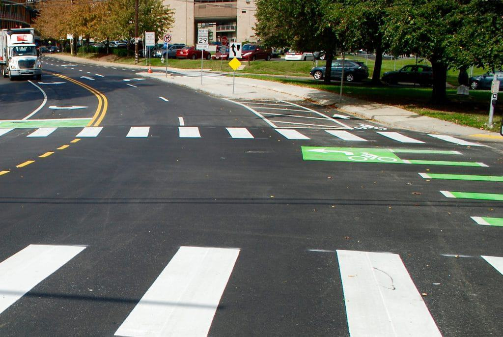 Bike lane project on Spring and Cedar close to completion - The completion of a project to create separated bike lanes on Spring and Cedar streets is at hand as the Planning Department continues to work on an updated bicycle master plan.