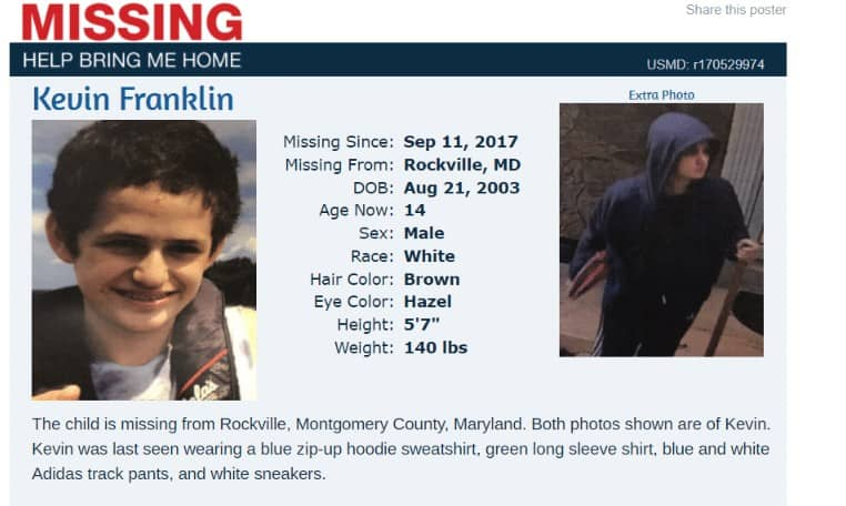 8th Grader from Takoma Park Middle School reported missing (UPDATE: Found Safe & Unharmed)