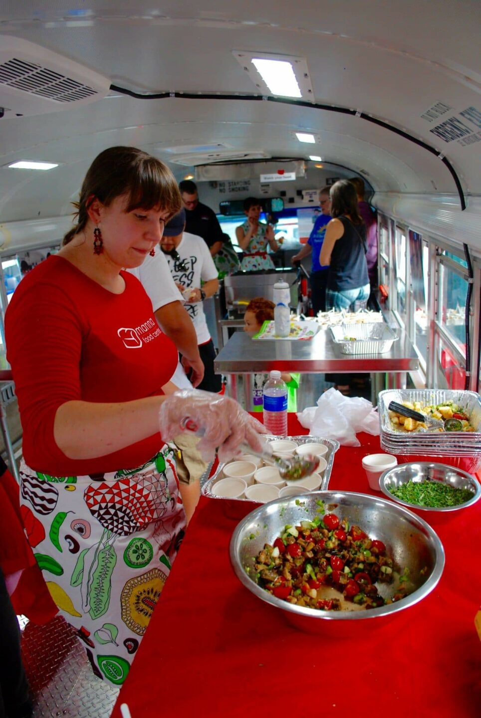 Manna Food Center demonstrates new mobile kitchen