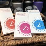 Chocolate bars from Silver Spring's Zivaara are also for sale at Bump 'N Grind
