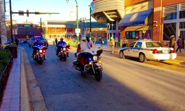 Santa stops in Silver Spring during benefit ride
