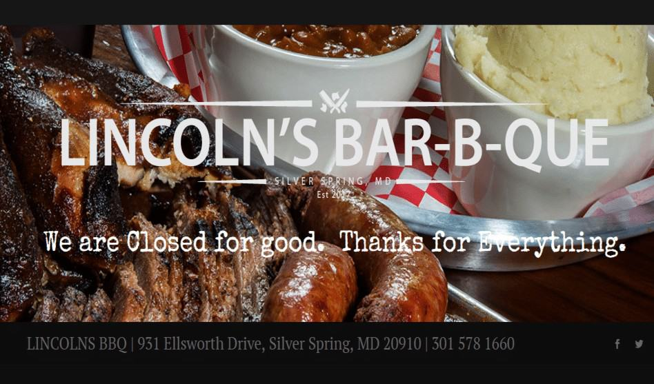 Lincoln's closing, updated with owner's comment