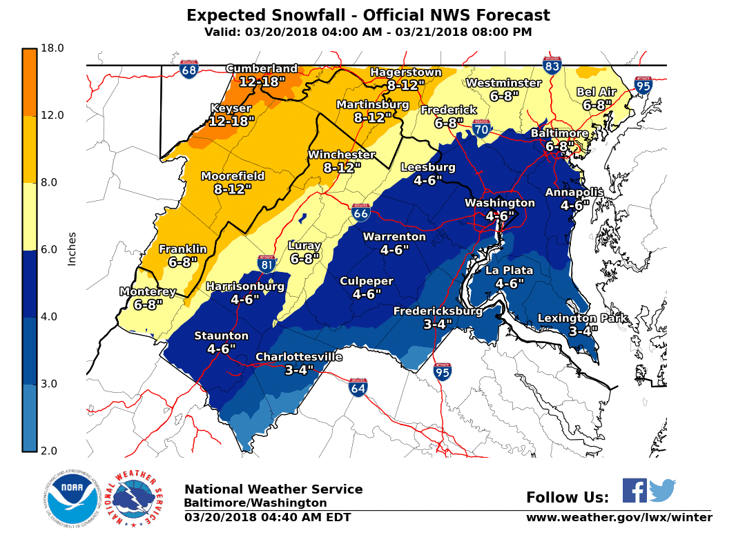 Wintry Weather Expected Tuesday into Wednesday
