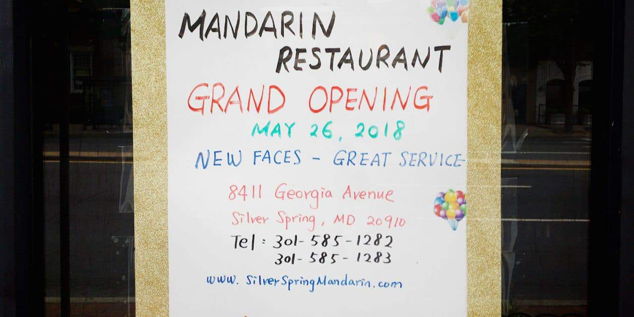 Mandarin Restaurant Reopened Over the Weekend