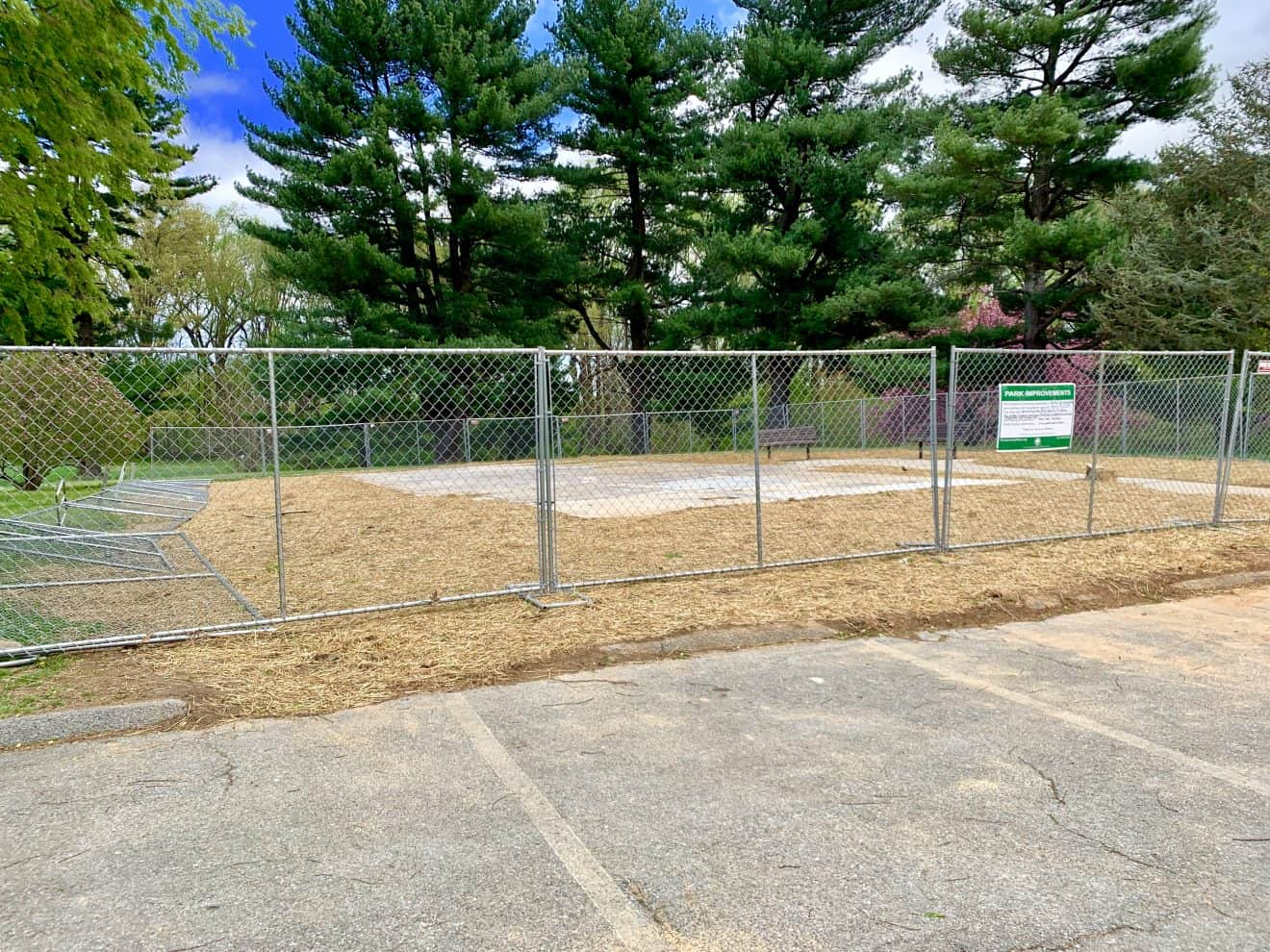 Nolte Park Activity Building Gone; Community Garden Planned - The activity building at Nolte Local Park has been taken down and its foundation will serve as the base for a new community garden, according to plans from Montgomery Parks.