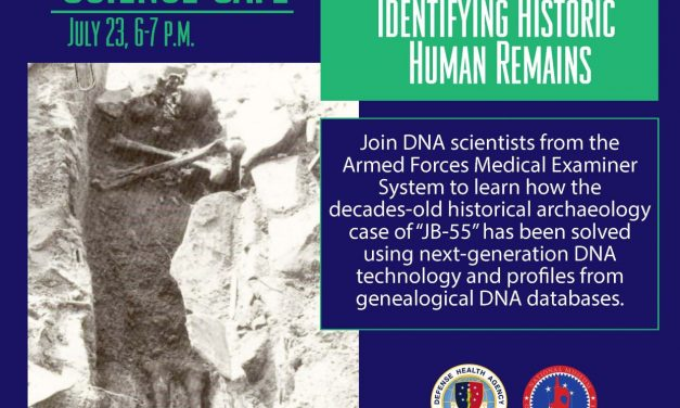 Medical Museum Science Cafe: Exploring Emerging DNA Technologies in Identifying Historic Human Remains