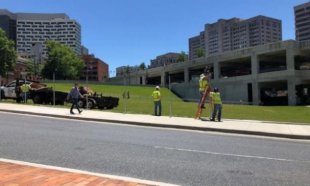 Dejá Vu for Silver Spring Commuters as Fencing is Installed