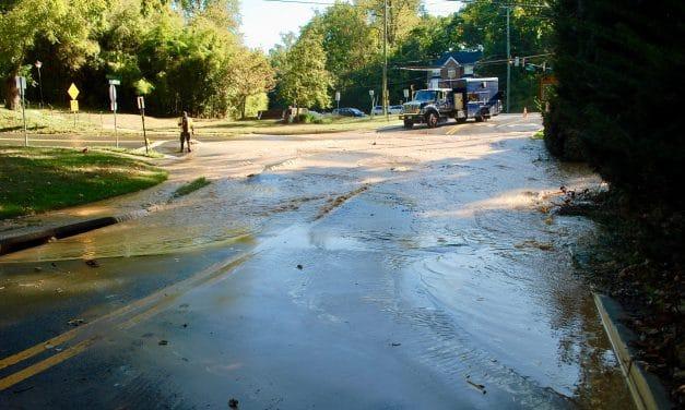 Water Main Break Disrupts Service, Closes Roads