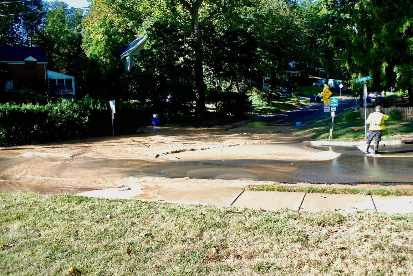 Water Main Break Disrupts Service, Closes Roads