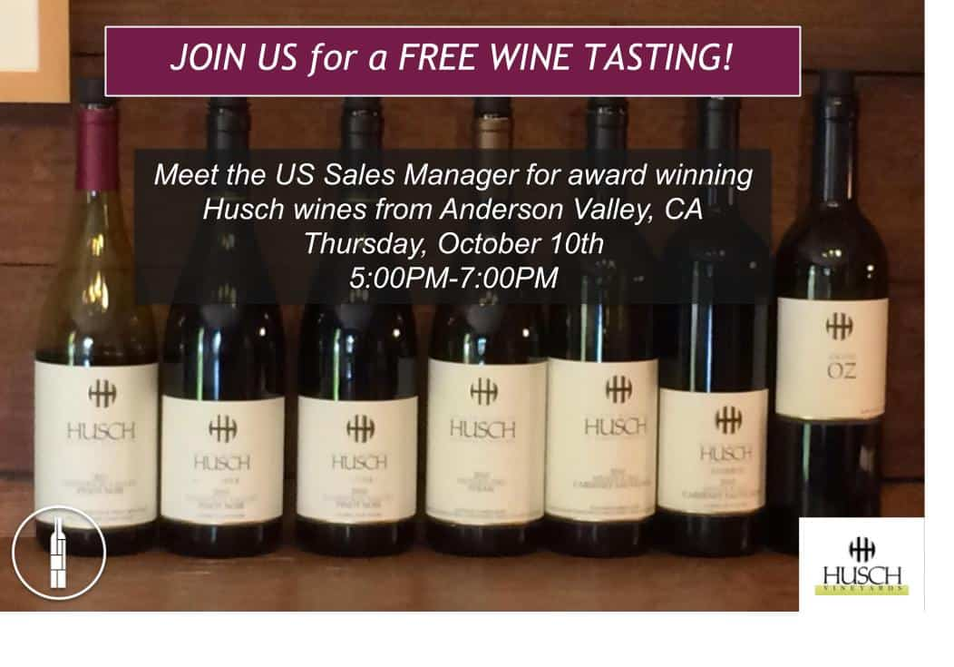 Husch Vineyards Wine Tasting