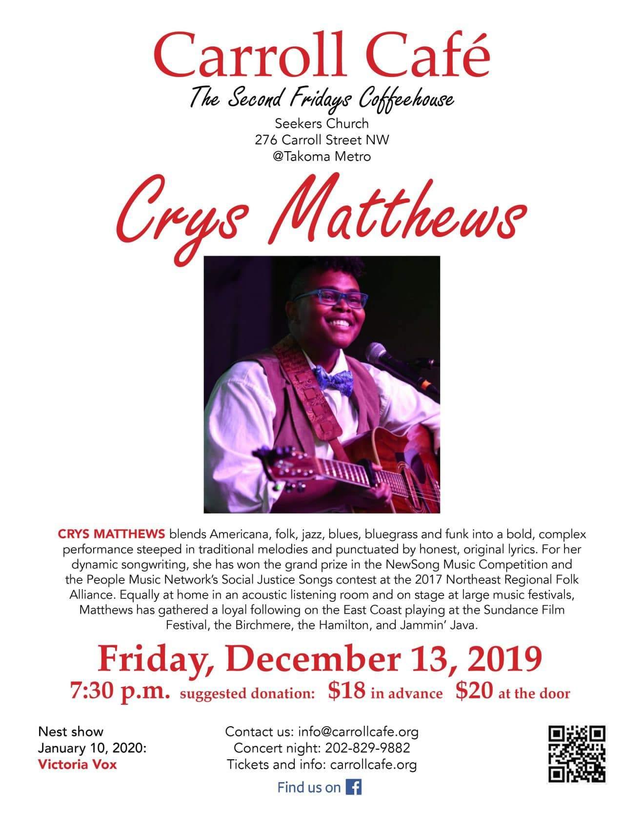 Carroll Cafe presents CRYS MATTHEWS
