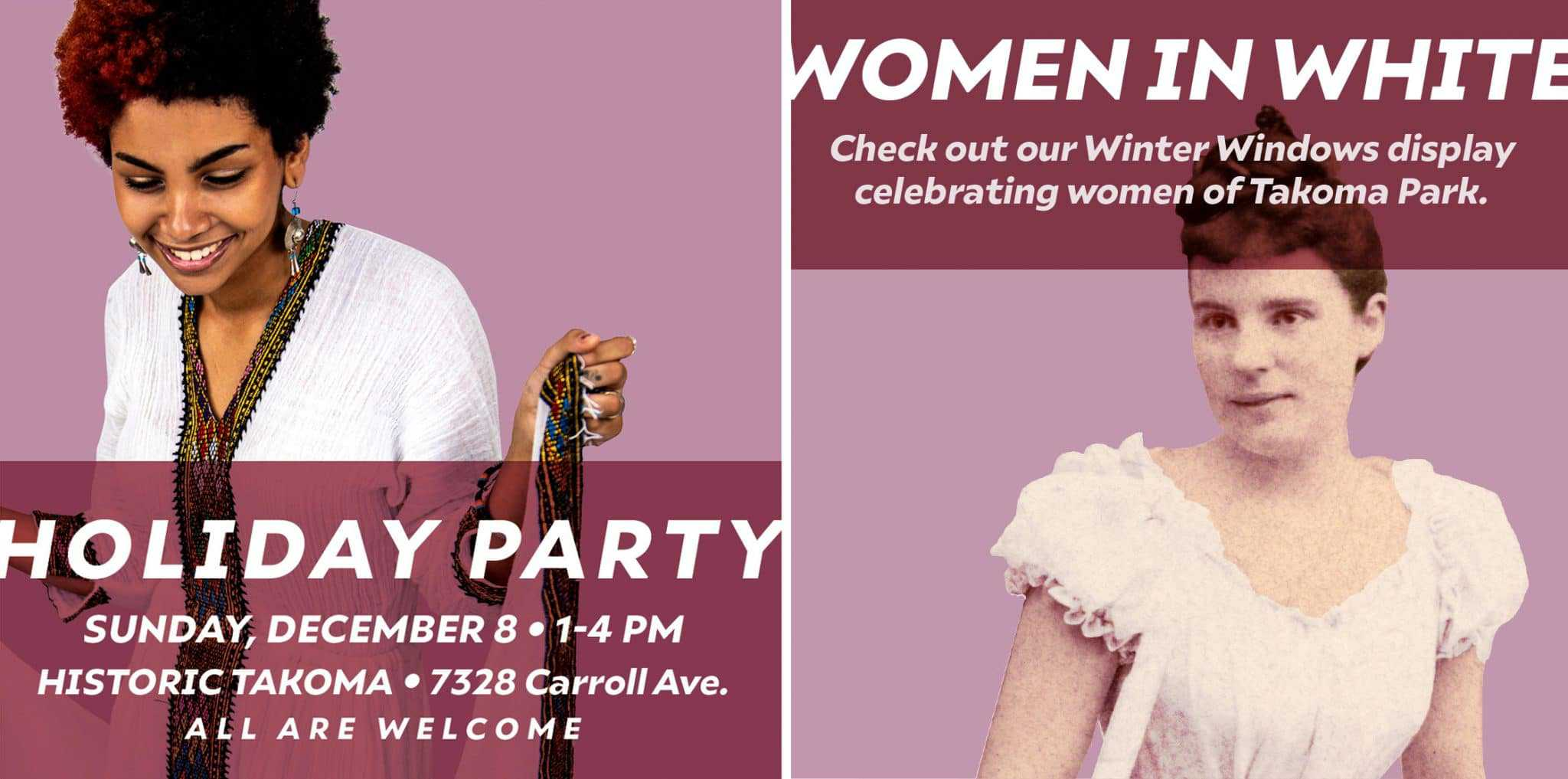 """Women in White"" Opening at Historic Takoma"