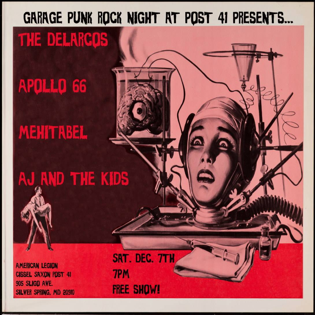 Garage Rock Night with Apollo 66, The Delarcos, Mehitabel and AJ & the Kids