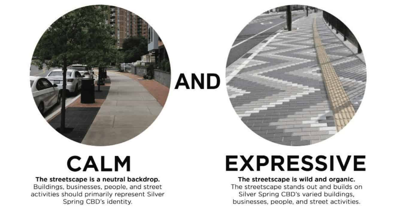Planning Board Adopts New Silver Spring Streetscaping Standards - The Montgomery County Planning Board has approved a new set of standards for streetscaping downtown Silver Spring, the agency announced. The Silver Spring Streetscape Technical Manual has been in use since 1992. The current revisions are the result of work that began in the fall of 2017.