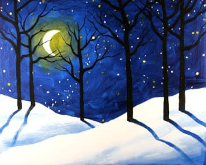 A Mid-Winter's Night Sip & Paint