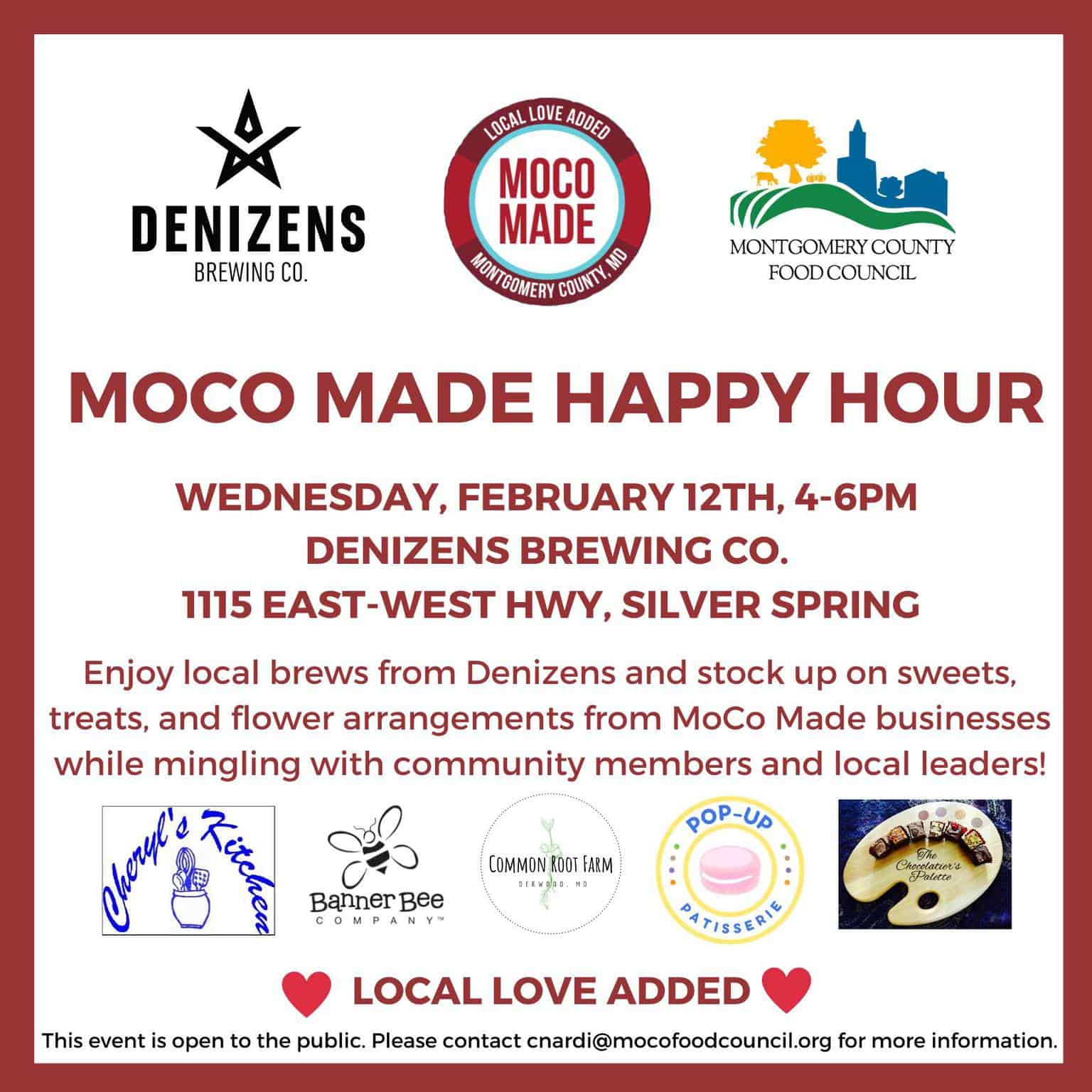 MoCo Made Happy Hour: Local Love Added!