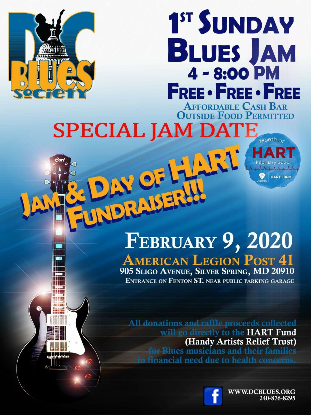 DC Blues Society's Special Jam on Feb 9