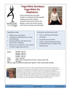 Yoga Nidra for Resilience