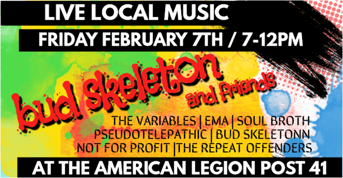 Bud Skeleton & Friends - Live Local Music at the American Legion