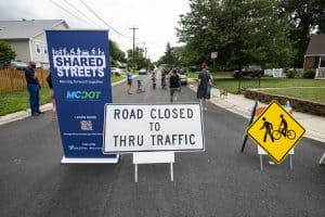 Woodland Drive Added to Shared Streets Program - Woodland Drive in Silver Spring has been added to the Shared Streets Program beginning today, October 23 under the county Department of Transportation's Temporary Neighborhood Greenways program.
