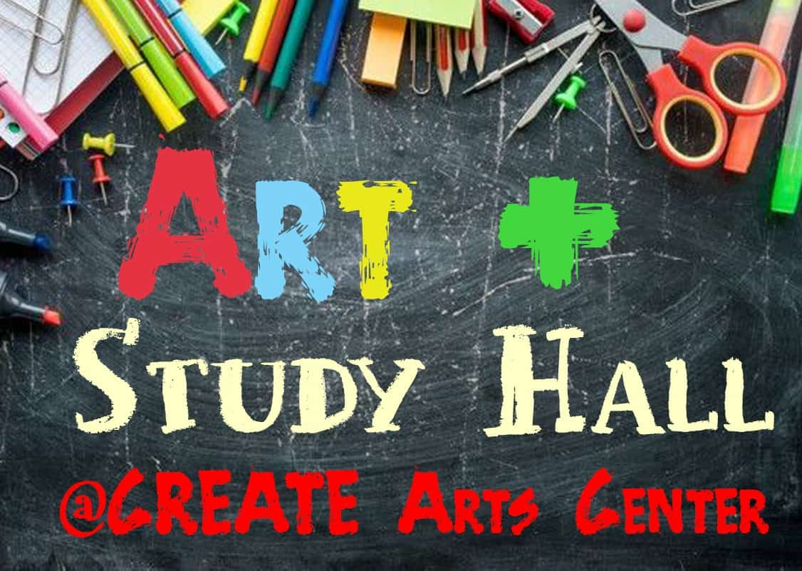Art & Study Hall @ CREATE Arts Center - Art + Study Hall is a weekly daytime program designed to provide parents with a flexible and safe option for the days when their children are engaging in distance learning and parents must return to work.