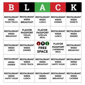 Black Restaurant Week Bingo