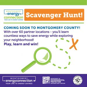 Events - <p>Introducing the Montgomery Energy Connection Scavenger Hunt! In celebration of October Energy Awareness Month, we are thrilled to launch this fun, self-paced exploration and discovery activity that is fun for all ages! Explore the many ways you can be more energy and water efficient in your daily lives, helping our environment while keeping more money in your pocket. Get to know our remarkable Montgomery Energy Connection Partners and discover your community! It is easy to play, and the Scavenger Hunt will continue all year long! Beginning October 1st. Simply visit a Scavenger Hunt location, hunt for the sign onsite, and text the customized code for steps to authenticate your visit. Play for a chance to win a $25 gift certificate from a participating Montgomery Energy Connection Partner by completing any Scavenger Hunt Circuit! For more information follow this link: https://mygreenmontgomery.org/2020/energyscavengerhunt/ #energy #energyawarenessmonth</p>