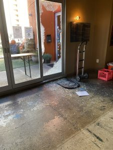 """Denizens Brewing Suffers Sunday Morning Break In - An unidentified male suspect smashed a plate glass window and broke into Denizens Brewing Co. Sunday morning (Oct. 18), according to Julie Verratti, co-founder and chief brand officer. """"We got a call from our alarm company at about 9:25 a.m.,"""" she said. """"We went over to the building immediately. On the camera, you could see that the guy broke in right as the alarm company called on Sunday morning."""""""