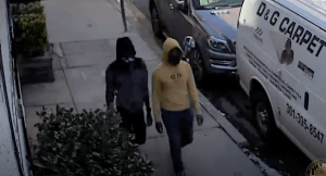 Police Release Video of Suspects in Silver Spring Robbery - County detectives from the 3rd District have released surveillance video of suspects in a robbery in downtown Silver Spring and are asking for the public's help to identify them. The incident occurred on Sept. 30 at about 4:40 p.m. in the 1200 block of Fidler Lane. The victim was a 31-year-old woman who was walking her dog at the time.