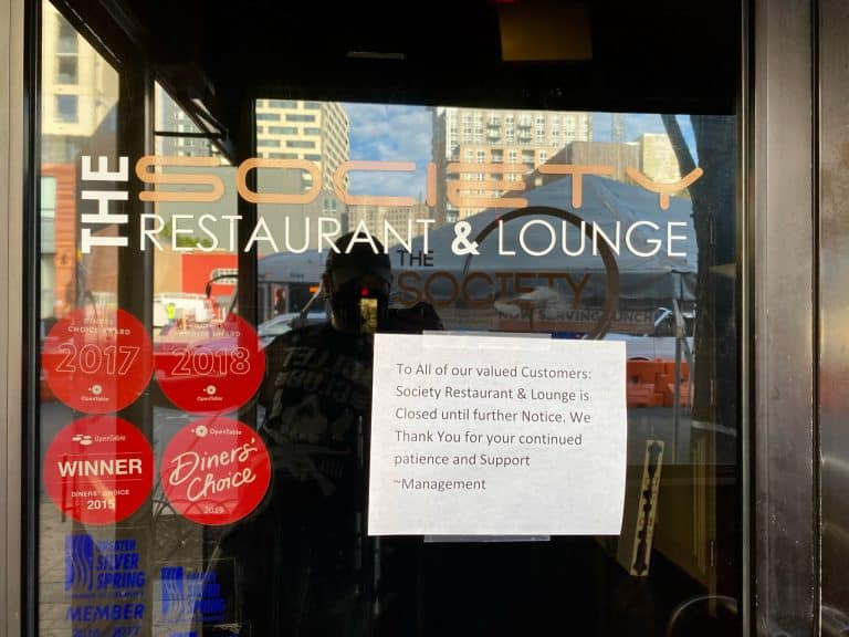 """Society Restaurant Declared """"Unsafe Facility,"""" Receives 30-Day Closure Notice"""