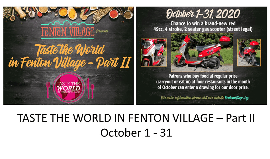 Taste The World Fenton Village Returns for October